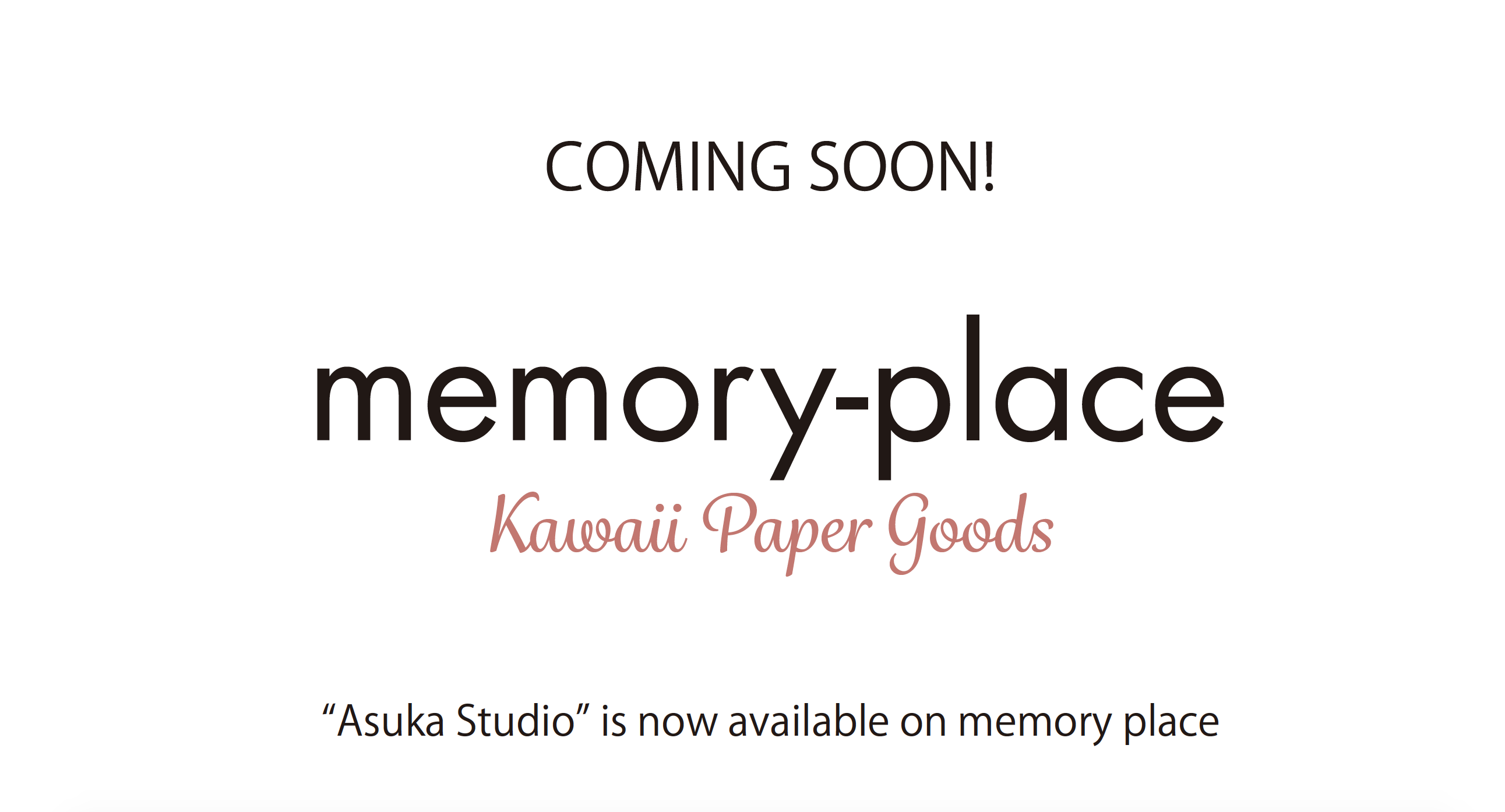 memory-place coming soon